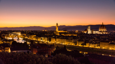 michelangelo: Skyline view at sunset of the city of Florence from Michelangelo Square