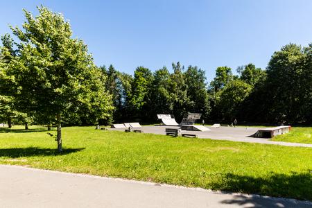 View of a natural park Volkspark Dutzendteich in Nuremberg, Germany