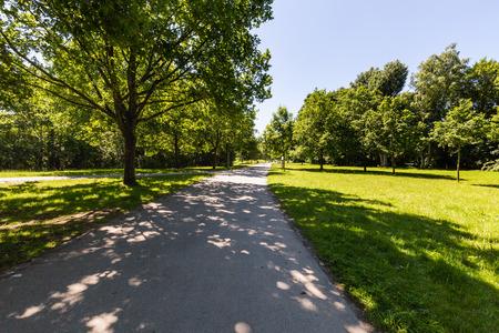 citypark: View of a natural park Volkspark Dutzendteich in Nuremberg, Germany