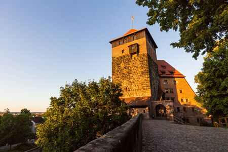 NUREMBERG, GERMANY - JUNE 22, 2016: Exterior view of the Nuremberg Castle in Nuremberg on June 22, 2016. Its a historical building on a sandstone rock in the north of the historical city of Nuremberg.