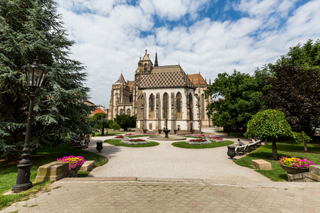dom: KOSICE, SLOVAKIA - AUGUST 3, 2016: View of St. Elisabeth Cathedral in the old town part of Kosice in Slovakia on August 3, 2016. Its one of the easternmost Gothic cathedrals in Europe.