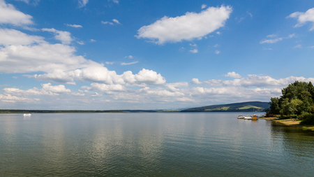 View of the barrier lake Oravska Priehrada in northern Slovakia