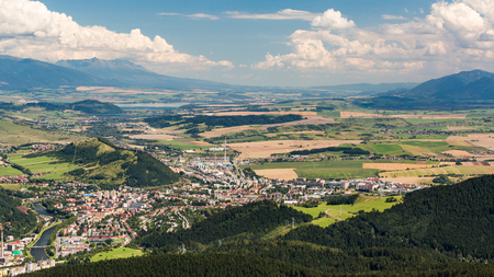ruzomberok: Ruzomberok city from Tlsta Hora Mountain in the Cutkovska Dolina Valley in the Liptov region in Slovakia