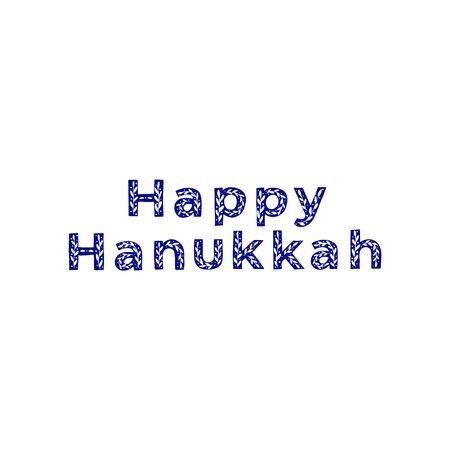 Happy Hanukkah celebration typography. Jewish holiday. Festive poster