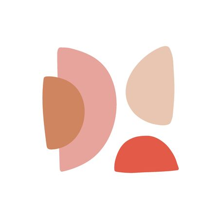 Colorful abstract shapes flat vector illustration. Conceptual geometric drawings