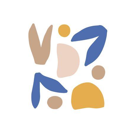 Abstract digital shapes. Scandinavian minimalism style. Contemporary fantasy print