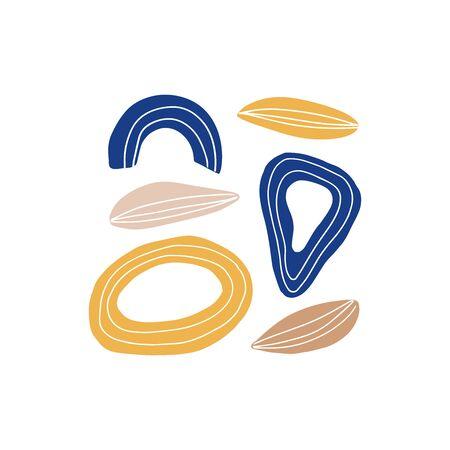 Abstract modern art composition hand drawn vector illustration. Artistic design element