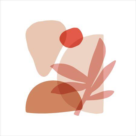 Abstract shapes flat vector illustrations set. Trendy figure decor element