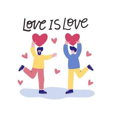 LGBT flat vector illustration. Design for Pride day.