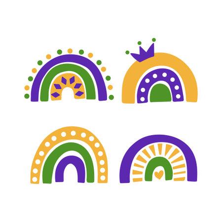 Mardi Gras traditional carnival. Fat Tuesday holiday vector illustration Vecteurs