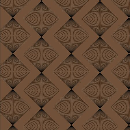strict: Brown rhombus strict style pattern seamless vector