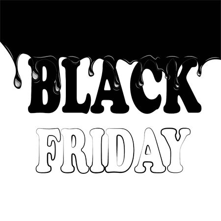 smudges: Black friday with smudges on a white background, vector illustration