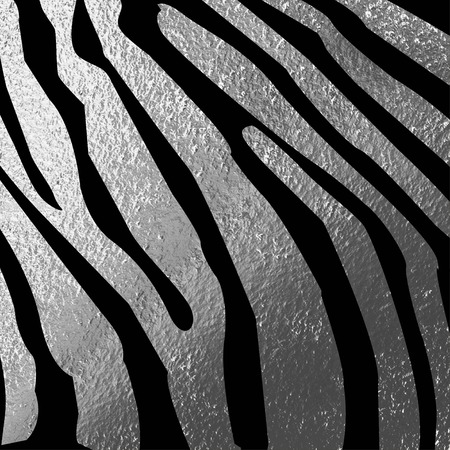 zoo: Texture of zebra skin, black and silver stripes background Stock Photo