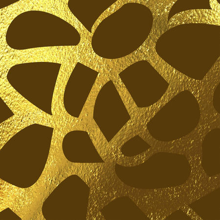 brown skin: Texture of giraffe skin, brown and gold  spots background Stock Photo