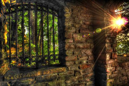 HDR Brick Window Imagens