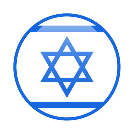 Star of David blue and white icon Jewish tradition biblical symbol isolated vector illustration Israel flag and national sign