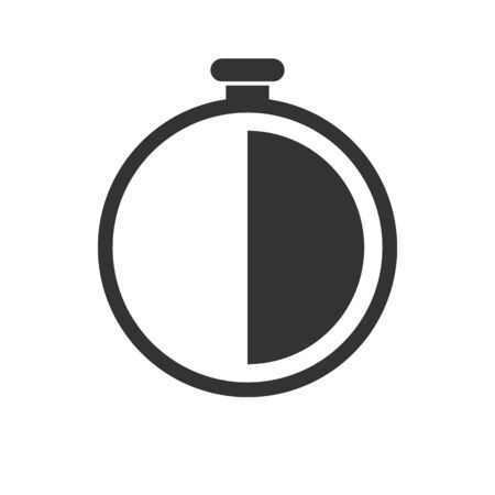 Stopwatch Icon Sport Speed Measurement Countdown Timer Black And White Illustration Vector 向量圖像