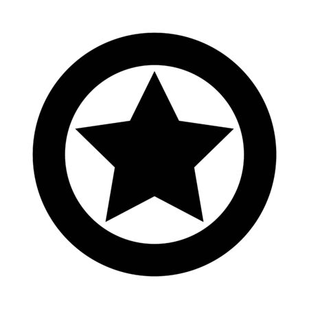 Star favorite success icon best rating symbol vector award badge achievement prize illustration