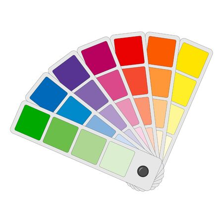 Color palettes Icon different shades in a unfolded fan vector illustration isolated on a white