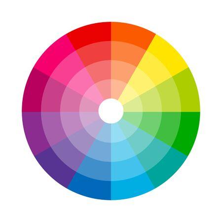 Roue de couleur cercle isolé sur illustration vectorielle fond blanc