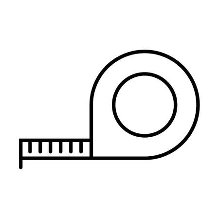 Measure tape icon. Construction ruler tool sign. Vector illustration on white background. Ilustrace