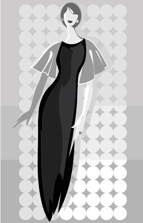 mannequin mode: Fashion model Vector illustration