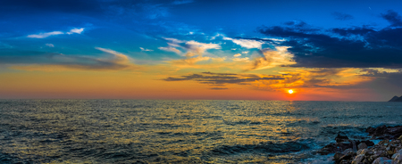 ionian: Scenic view of beautiful sunset above the sea