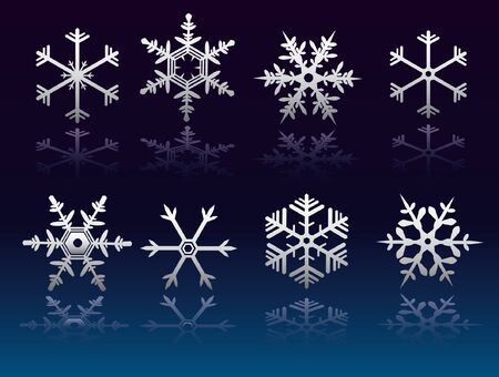 coldness: snow flakes Illustration