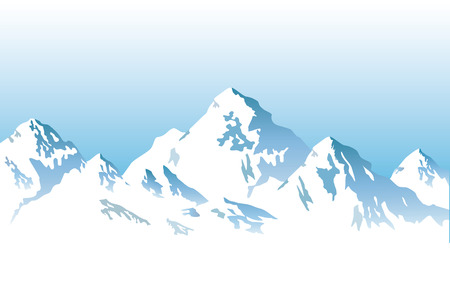snow capped mountains - background