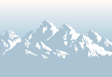 besneeuwde bergen - achtergrond Stock Illustratie