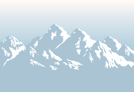 extreme terrain: snowcapped mountains - background