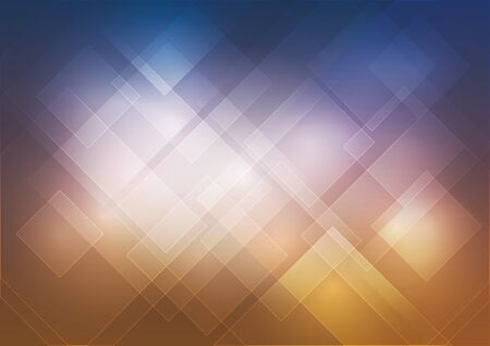 slant: Background with banner highlighted squares twist Illustration