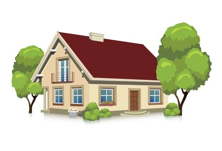 Visualizing Vector illustration of a house - isolated building
