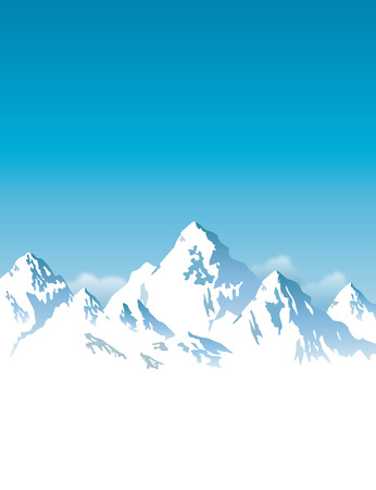 snow-capped mountains - vector background 向量圖像