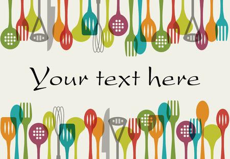 kitchen utensils: Background - Kitchen utensils set