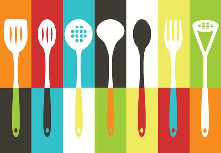 utensils: Kitchen utensils set