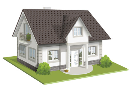 illustration 3d of classic house