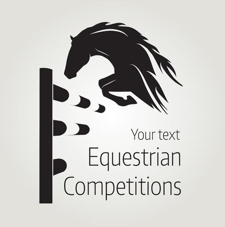 Hippische wedstrijden - illustratie van het paard