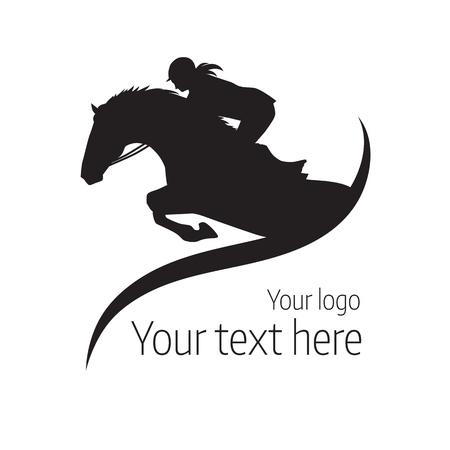 compétitions équestres - illustration de cheval
