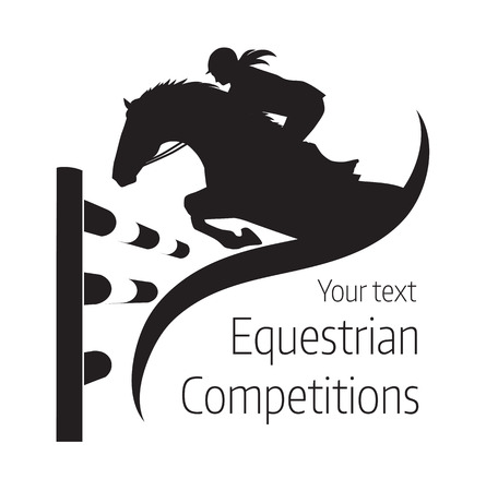 show jumping: Equestrian competitions - illustration of horse