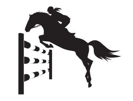 Equestrian competitions - illustration of horse 版權商用圖片 - 68099751