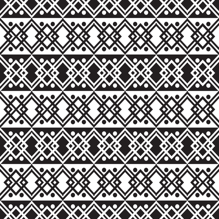 Geometric abstract seamless pattern ethnic style