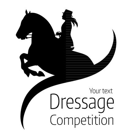 Konie ujeżdżenia konnych - ilustracja wektorowa konia