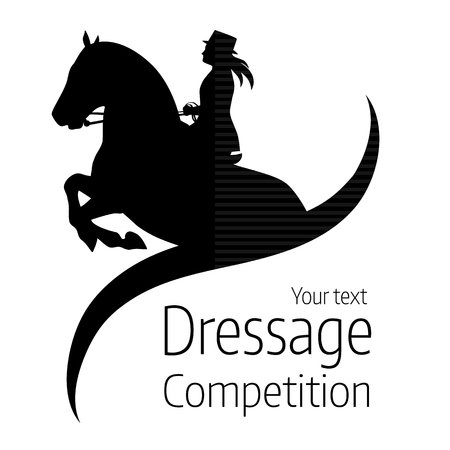 Equestrian dressage competitions - vector illustration of horse