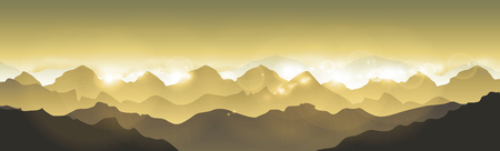 Mountains landscape - Vector illustration Himalaya panorama