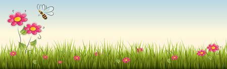 Fresh green grass - vector illustration Illustration