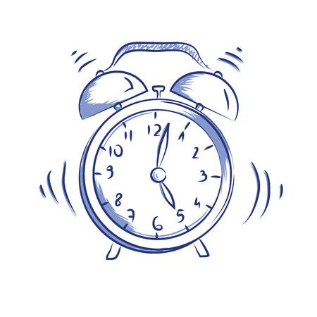Vector doodle pictogram wekker