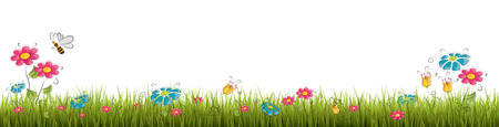 grasslands: Fresh green grass - vector illustration Illustration