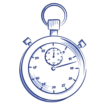 A Vector hand drawn stopwatch icon