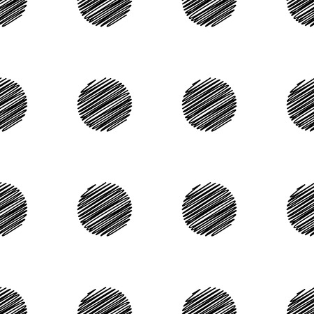 Big Dot seamless pattern. Abstract fashion black and white texture. Illustration